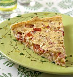 Tarte tomate thon moutarde - tarte salée estivale - Recettes de cuisine Ôdélices