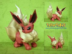 PaperPokés - Pokémon Papercrafts: FLAREON
