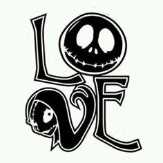 Jack skellington and Sally, Nightmare Before Christmas, Love, Wall art,