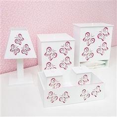 Kit Higiene Butterfly Rosa