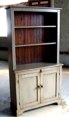 Rustic Open Top Hutch - ECustomFinishes