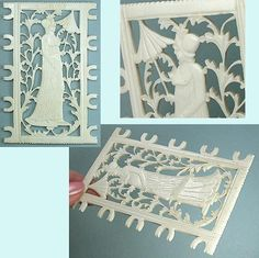 Fabulous Antique Carved Filigree Regency Lady Silk/Thread Winder * Circa 1800s