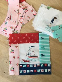 Fussy cut Seaside Quilt blocks + partial seams tutorial - love the fabric! Crazy Quilting, Patchwork Quilting, Scrappy Quilts, Easy Quilts, Applique Quilts, Quilt Blocks Easy, Block Quilt, Modern Quilting, Owl Quilts
