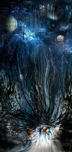 "Threyda | Art & Goods | ""Thinking Into The Night"" by Peter Westermann  24 x 50 inches"