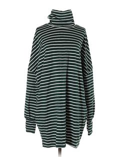 Shein Casual Dress - Shift: Green Stripes Dresses - Used - Size Small Casual Dresses For Women, Dresses For Sale, Jersey Knit Dress, Green Stripes, Striped Dress, Turtle Neck, Retail, Sweaters, Clothes