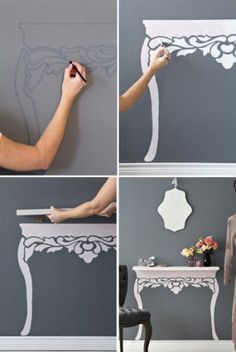 15 DIY Projects to make your home look more expensive. My whole motto is to decorate on a dime but make my home look like I spend thousands. tackle some classy DIY projects Diy Home Decor Projects, Easy Home Decor, Decor Ideas, Diy Ideas, Home Decoration, Room Decorations, Creative Ideas, Decor Crafts, Diy Crafts