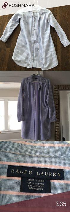 Ralph Lauren Shirt Dress Oxford material shirt dress Ralph Lauren Dresses Long Sleeve