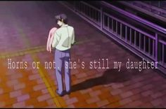 My edit! Horns or not, she's still my daughter. Elfen lied Mariko and her actual father. So sad T-T