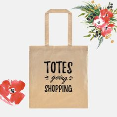 Totes going shopping!  This cute tote bag is sure to put a smile on anyones face! { Item Specifics } -tote bag measurements: 14.5″W x 15.5″H;