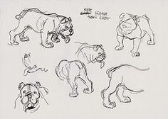 Oliver & Company (1988) | early dog studies by Andreas Deja (x)