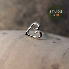 CARTILAGE heart sterling silver/ cartilage by StudsEarrings