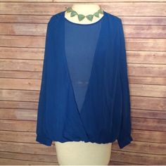 NWT Philosophy Long Cardigan Royal Blue NWT | Sweater cardigan ...