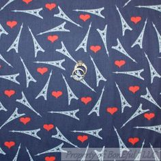BonEful FABRIC Cotton Quilt VTG American France Eiffel Paris Tower Heart L SCRAP #Unbranded Scrap Fabric Projects, Fabric Scraps, Quilting Fabric, France Eiffel Tower, Paris Eiffel Tower, Grey Quilt, Blue Quilts, Cotton Quilts, Sewing For Kids