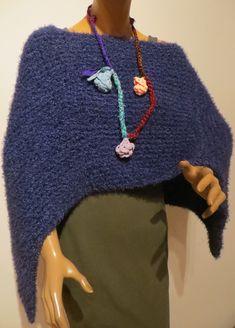 Handmade Poncho, Merino, Kidmohair Poncho Scarf, Knitted Poncho, Crochet Necklace, Knitting, Handmade, Fashion, Ponchos, Scarf Crochet, Handarbeit