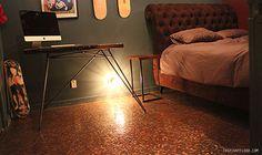 Slaapkamer met vloer van munten   Inrichting-huis.com