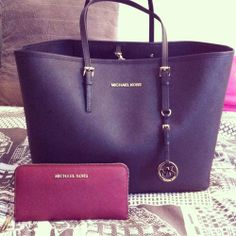 Loving This Purple Michael Kors Bag And Wallet For An Amazing Pop Of Color