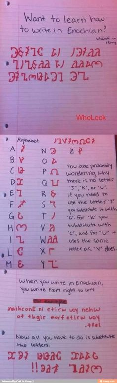 Enochian Writing I'm so using this from now on. Heh heh heh