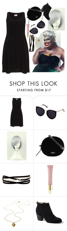 """""""Ursula memories"""" by queenofquestions ❤ liked on Polyvore featuring Disney, Kenneth Jay Lane, AERIN and Lands' End"""