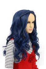 Karlery Child Kids Long Wave Blue Wig Halloween Cosplay Wig Anime Costume... New