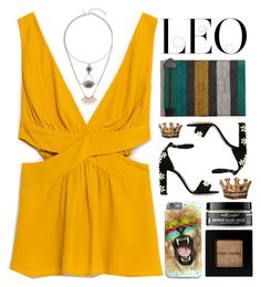 """Leo"" by doga1 ❤ liked on Polyvore featuring MANGO, Dolce&Gabbana, Bobbi Brown Cosmetics, Earth's Nectar, Universal Lighting and Decor, Topshop, fashionhoroscope and stylehoroscope"