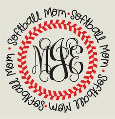 Baseball or Softball MOM T-shirt stylish with personalization Monogram or Number GRANDMA, Sister, Aunt by BoutikiMonograms on Etsy