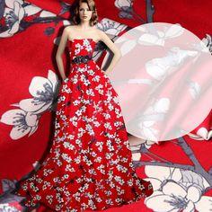 273ecfa7b1b4 118cm wide 19mm 93% silk   7% spandex white floral print red stretch silk
