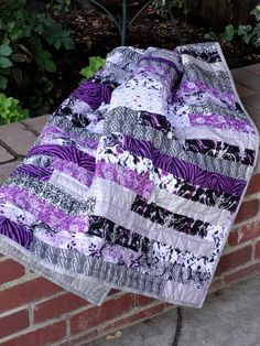 Razzle Dazzle Purple Quilt by MyQuiltBox on Etsy, $150.00