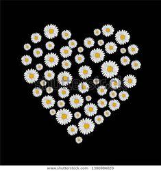 Daist Flover Heart Embroidery Print Stok Vektör (Telifsiz) 1386984020 Embroidery, Heart, Image, Needlepoint, Drawn Thread, Needlework, Crewel Embroidery, Embroidery Stitches