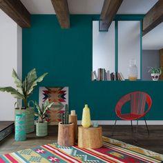 Créez une ambiance rafraîchissante avec cet intissé CALICO ! Empreinte d'exotisme, cette couleur bleu vert confère à votre pièce une atmosphère apaisante, propice à la détente et pleine de fraîcheur. Cette teinte très tendance s'accordera parfaitement avec les imprimés ethniques de notre collection Caramba !