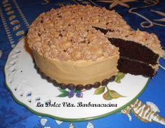 Torta al #cioccolato e #caffè, morbida torta al cioccolato farcita con frosting al caffè!!