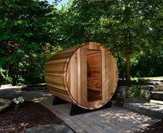 outside barrel sauna almost heaven saunas
