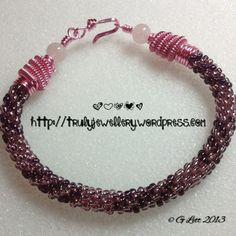 Kumihimo Patterns with Beads | Beaded swirl kumihimo braid
