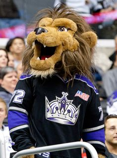 LA Kings Mascot - Bailey  Created by Street Characters Inc.