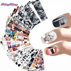 BlingBling Art 24 Styles Nail Sticker Women Nail Art Water Decals Marilyn Monroe Nail Wraps Audrey Hepburnl Stickers Nails Accessoires  Each individually wrapped They stay on your fingernails a lot longer than regular nail art stickers. Very elegant, easy to match any nail colour         BlingBling Art 24 Styles Nail Sticker Women Nail Art Water Decals Marilyn Monroe Nail Wraps Audrey Hepburnl Stickers Nails Accessoires Features     1 Package Includes: 24 sheets/set * Water Transfer ..
