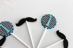 "First Birthday ""Little Man"" Cupcake Toppers - Party Decorations, Mustache, Boy Baby shower, Birthday Party. $8.00, via Etsy."