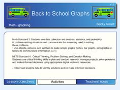 This file is a collection of graphs that can be used at the beginning of the school year. It includes printable graphs so that students can fill in their own as it is being completed on the board. Smart Board Activities, Smart Board Lessons, First Day Activities, Back To School Activities, School Ideas, Beginning Of The School Year, New School Year, First Day Of School, 4th Grade Math