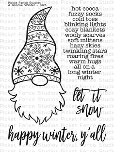 Photopolymer stamps designed by Nicole Petersen. Gnome is approx. Coordinates with Gnome Winter die 3d Christmas, Stampin Up Christmas, Christmas Ideas, Christmas Decorations, Christmas Projects, Christmas Ornaments, Paper Craft Supplies, Paper Crafting, Art Supplies