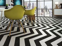 Černo-bílá interiérová retro dlažba od výrobce Ape Rotterdam