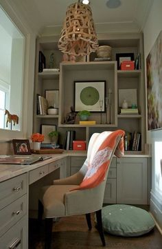 Lighting Home Office Design Ideas. Therefore, the demand for home offices.Whether you are intending on including a home office or restoring an old area right into one, right here are some brilliant home office design ideas to help you begin. Office Nook, Home Office Space, Small Office, Home Office Design, Office Decor, House Design, Office Ideas, Cozy Office, Closet Office