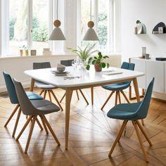 Table ronde à volets MALENA Blanc | salon | Salle a manger ...