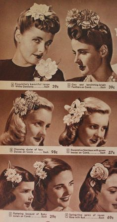 1940s flowers combos clips