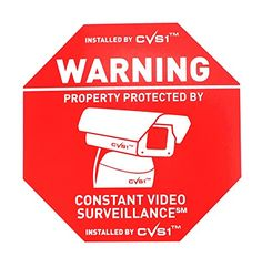 Security Camera Warning Sign Sticker Outdoor Kit Good for Cctv or Fake Camera