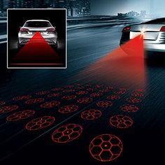 LED Car Laser Fog Light Rear Warning Lamp Taillight Signal Bulb Lamp