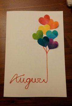 Bigliettino di auguri creativo con palloncini! Ho creato questo biglietto…