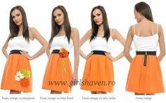 Fuste orange Orange, My Style, Floral, Florals, Flower, Flowers