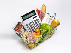 Healthy budget shopping basket