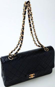 Heritage Vintage  Chanel Black Double Flap 2.55 Bag Luxury Handbags 3433eb84990e6