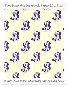 Cream Striped Large  Rarity Pattern Paper