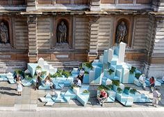 High climbers: So? Architecture's winning installation on show at the Royal Academy High climbers: So? Architecture's winning installation on show at the Royal Academy Landscape And Urbanism, Urban Landscape, Landscape Design, Urban Furniture, Street Furniture, Concrete Furniture, Temporary Architecture, Architecture Design, Architecture Diagrams