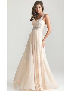 c5ca9cf95492 champagne antické svatební plesové společenské šaty na jedno rameno Ruby  XS-M - Hollywood Style